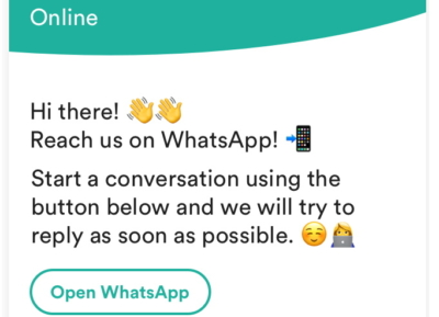Boozt-trengo_whatsapp_business-in-chat-widget